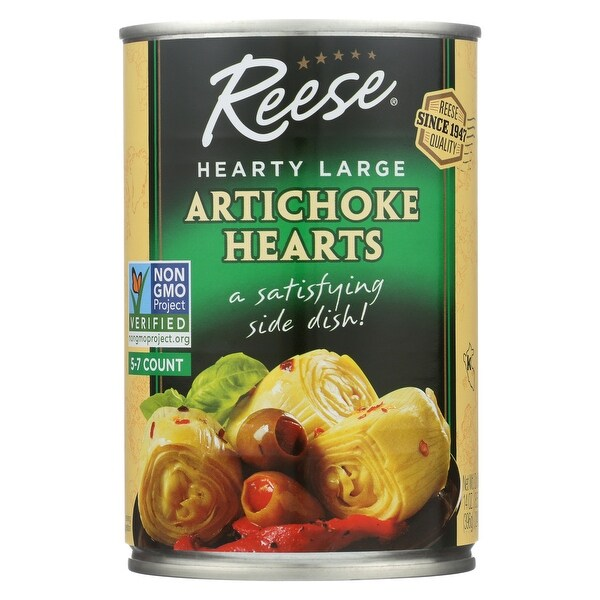 Reese Artichoke Hearts - Hearty Large - Case of 12 - 14 oz.