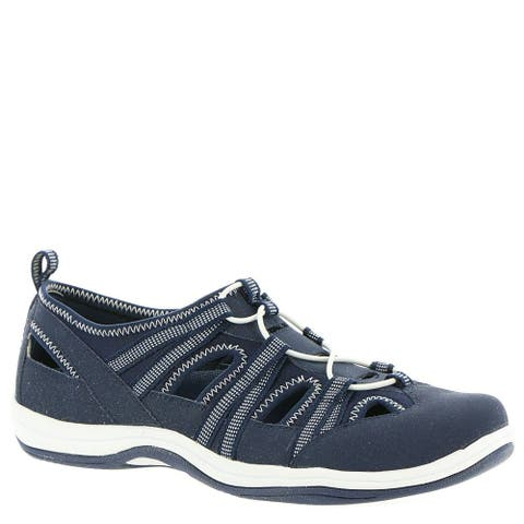 Easy Street Womens Campus Leather Low Top Bungee Walking Shoes