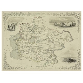 """Map of Afghanistan"" Poster Print"
