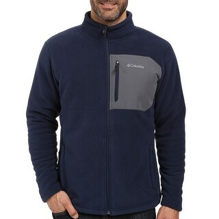 Columbia NEW Navy Blue Mens Size Small S Full Zip Mock-Neck Sweater
