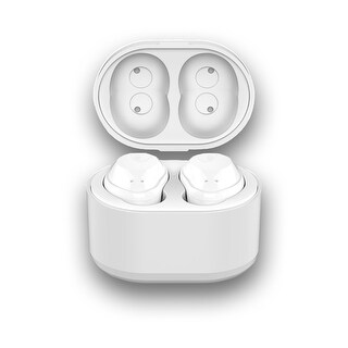 Wireless Bluetooth 4.2 Headphones by Indigi - 2.5hrs of Use - 33ft Range - Stereo Sound + Magnetic Quick Charge Case (White)