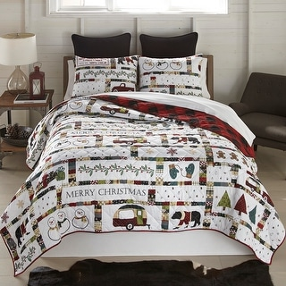 """Link to Your Lifestyle by Donna Sharp """"Merry Vacation"""" Quilt Set Similar Items in Quilts & Coverlets"""