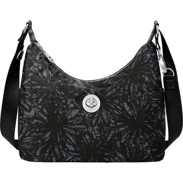 6ac243512317 Shop baggallini Women s Zurich Medium Hobo Onyx Floral - US Women s One  Size (Size None) - Free Shipping Today - Overstock.com - 25666909