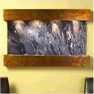 Adagio Sunrise Springs Wall Fountain Black Spider Marble Rustic Copper - SSS1007