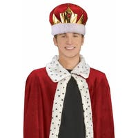 King's Crown Adult Costume Hat - Multi