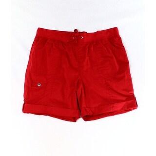 Style & Co. NEW Red Cuffed Women's Size 6 Bermuda Walking Shorts