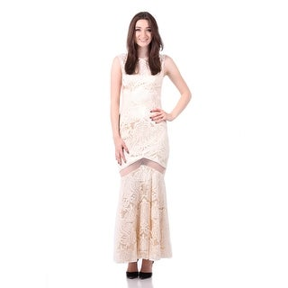 Lace Open Back Sheer Panel