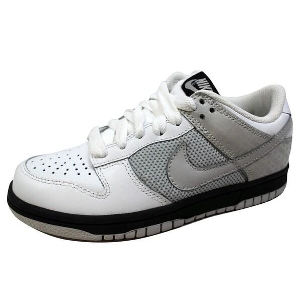 Nike Women's Dunk Low White/Neutral Grey-Black 317813-101 Size 5