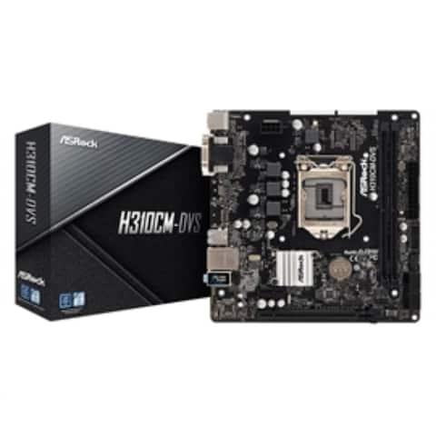 ASRock Motherboard H310CM-DVS S1151 Intel H310 Max32GB DDR4 PCIE DVI-D/D-Sub mATX Retail