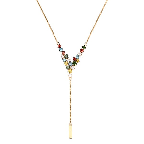 Brand New 0.74 Carat Multi Color Diamond 17 Inches Amazing Necklace