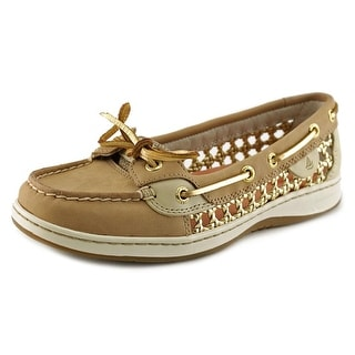 Sperry Top Sider Angelfish Cane Women Moc Toe Leather Boat Shoe
