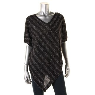 Two by Vince Camuto Womens Marled V-Neck Poncho Sweater - XS/S