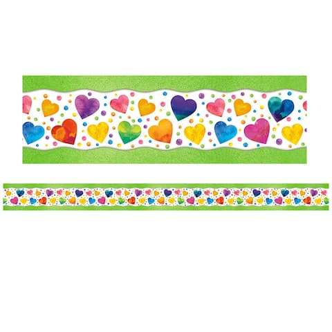 All Around the Board Trimmer, Watercolor Hearts, 43' - One Size