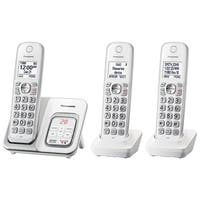 Panasonic Kx-Tgd533w Expandable Cordless Phone W/ Answering Machine - 3 Handsets - White