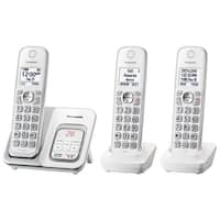 Panasonic Kx-Tgd533w Expandable Cordless Phone W/ Answering Machine - 3 Handsets - White