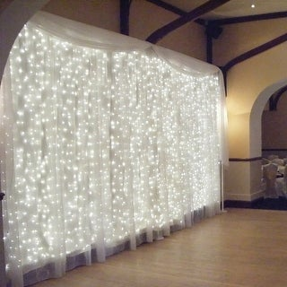 18W Window Curtain Light, Icicles Christmas Fairy String Light, 6000K Extendable 300 LEDs 8 Modes Decorative Starry Light