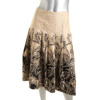 Jones New York Womens Silk Printed A-Line Skirt - 12