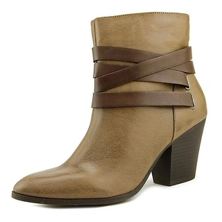 A.N.A Luz Women  Pointed Toe Synthetic Brown Ankle Boot