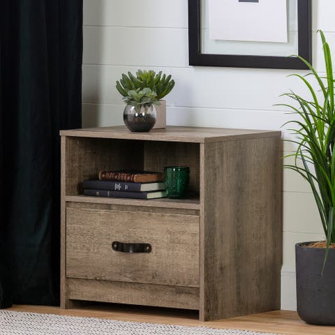 South Shore Sazena 1-Drawer Nightstand