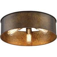 "Nuvo Lighting 60/5893 Kettle 3 Light 12"" Wide Flush Mount Drum Ceiling Fixture"