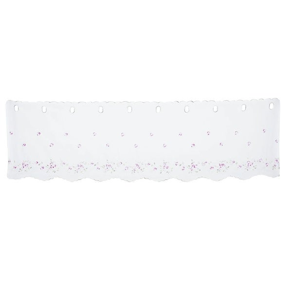 Polyester Flower Printed Bed Door Window Valance Colorful 60 Inch x 17 Inch - Size 3. Opens flyout.
