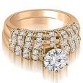 1.35 cttw. 14K Rose Gold Antique Round Cut Diamond Bridal Set - Thumbnail 0