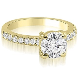 1.05 CT.TW Round Cut Diamond Engagement Ring - White H-I