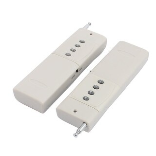 2pcs 3000 Meters 4 Keys Battery Powered Industrial Wireless Remote Controller