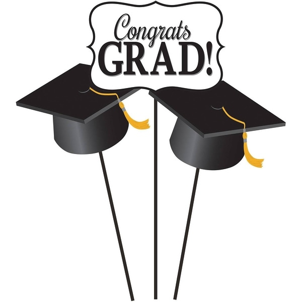 shop club pack of 36 black and white graduation sign and mortarboard