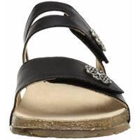 Haflinger Womens Pansy Open Toe Casual Slide Sandals