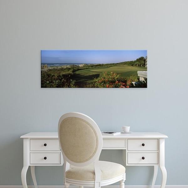 Easy Art Prints Panoramic Image 'Golf course, Kiawah Island Golf Resort, Charleston County, South Carolina' Canvas Art