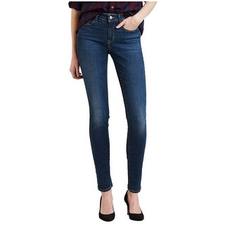 Levis Womens Mid-Rise Skinny Jeans 33x32 Luck Out West 16M