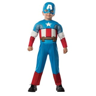 Toddler Captain America Muscle Halloween Costume Size 2T-4T