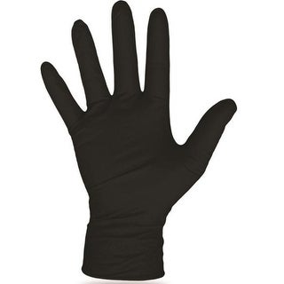 Boss 1UH0006BX Disposable Nitrile Gloves, Black, X-Large