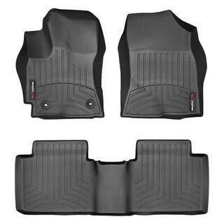 WeatherTech Toyota Corolla 2014+ Black Front & Rear Floor Mats FloorLiner 44580-1-2