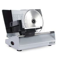 "DELLA 8.7"" 180W Power Electric Meat Vegetable Cheese Bread Blade Stainless Steel Slicer Machine"
