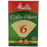 Melitta 626412 Cone Coffee Filters, 40 Count, Natural Brown