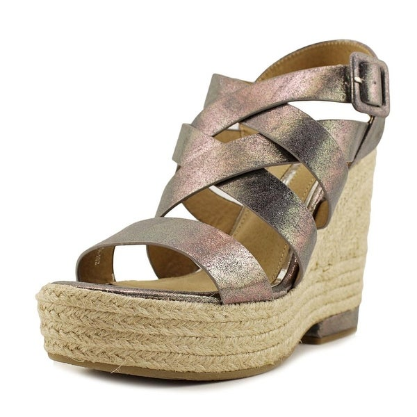 Maria Mare 66801 Women US 6 Silver Wedge Sandal