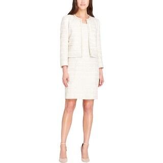 Tahari ASL Womens Dress Suit 2PC Boucle - 18