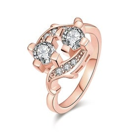 Double Jewel Rose Gold Ring