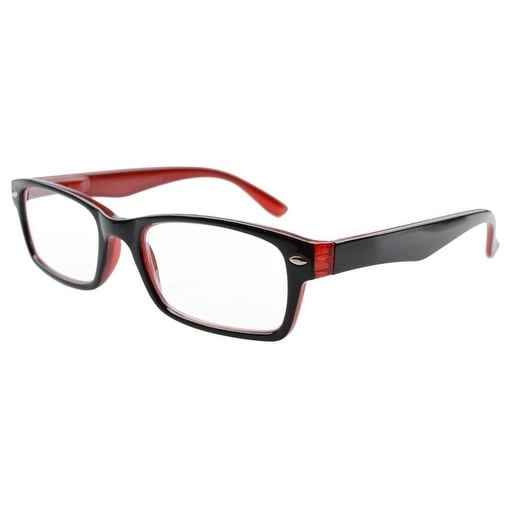 93433d066c2 Shop Eyekepper Spring Hinges Plastic Reading Glasses W case Black-Red +2.50  - Free Shipping On Orders Over  45 - Overstock - 16024482