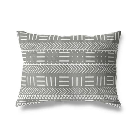 HADLEY GREY Indoor Outdoor Pillow By Terri Ellis