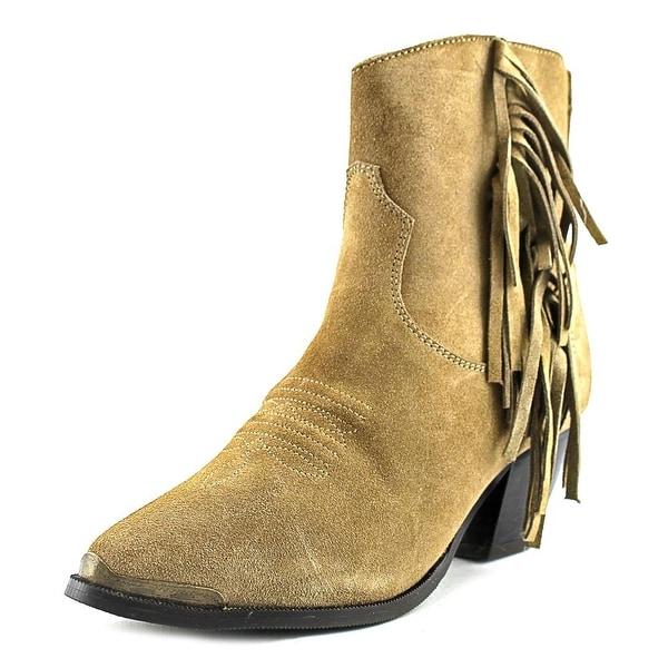 Dingo Gigi Round Toe Suede Western Boot