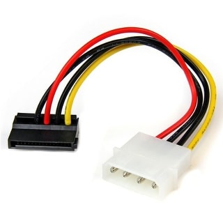 StarTech SATAPOWADPL 6-Inch 4-Pin LP4 Molex to Left Angle SATA Power Adapter