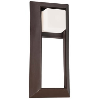 "The Great Outdoors 72343-615B Single Light 18"" Height Outdoor Wall Sconce from the Casona Square Collection - dorian bronze"