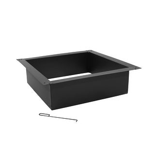 Sunnydaze Square Heavy-Duty Fire Pit Rim DIY Kit for Above or In-Ground Fire Pits