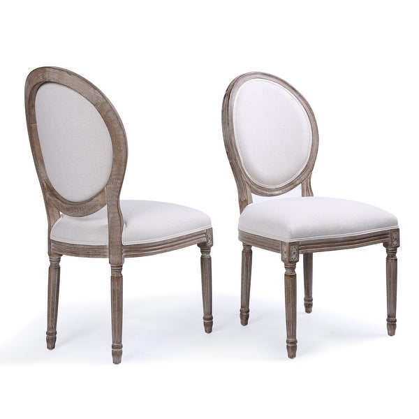 Superieur Belleze Classic Elegant Traditional Upholstered Fabric Formal Dining Chairs  Set Of (2) With Solid
