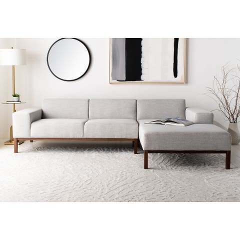 """SAFAVIEH Couture Dove Mid-Century Sectional Sofa - 109.45"""" W x 33.9-61.8"""" L x 28.35"""" H"""