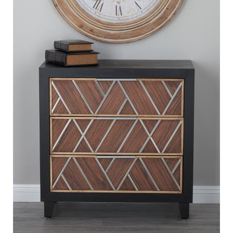Brown MDF Contemporary Chest 32 x 31 x 16 - 31 x 16 x 32