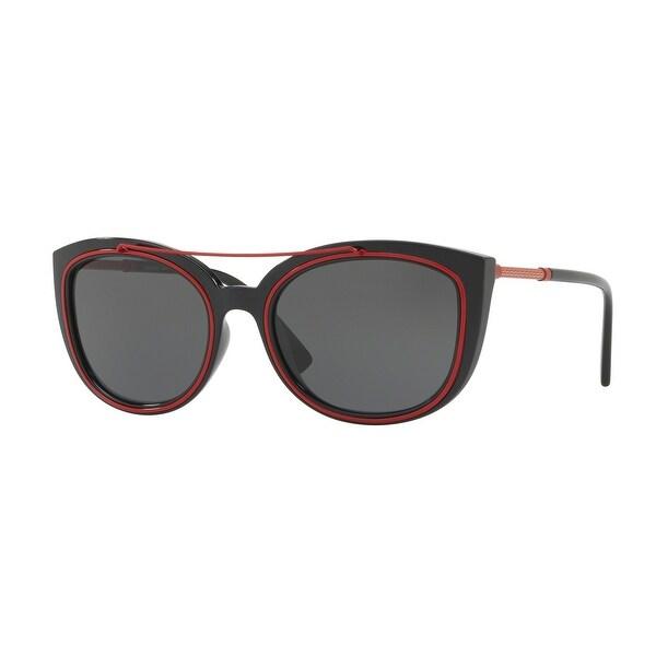 Versace Women's VE4336 525587 56 Grey Plastic Cat Eye Sunglasses. Opens flyout.
